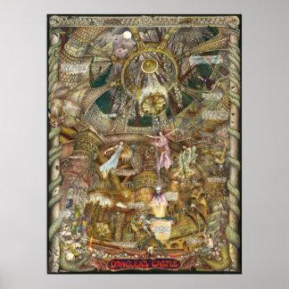 Dracula's Castle illustraton castle brides Poster