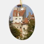 Dracula's Castle, Transylvania Christmas Ornaments