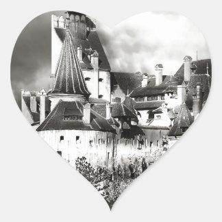 Dracula's Castle, Transylvania Heart Sticker