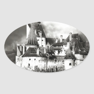 Dracula's Castle, Transylvania Oval Sticker