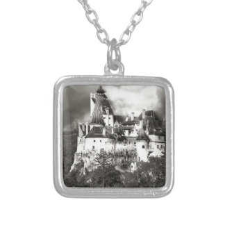 Dracula's Castle, Transylvania Silver Plated Necklace