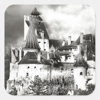 Dracula's Castle, Transylvania Square Sticker