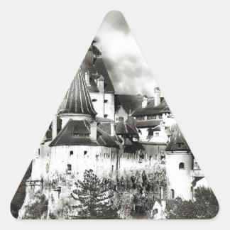 Dracula's Castle, Transylvania Triangle Sticker