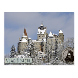Dracula's castle, winter postcard