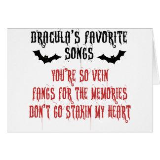 Dracula's Favorite Songs Card