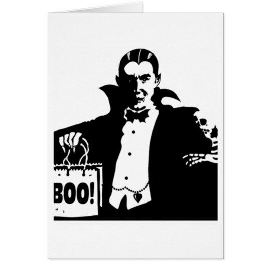Dracula's Happy Halloween Card