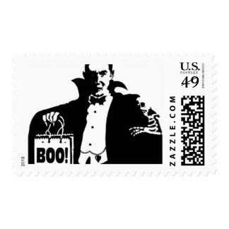 Dracula's Happy Halloween Postage Stamp