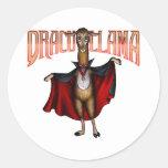 Dracullama Round Stickers
