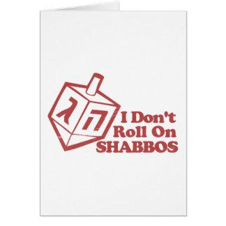 Draddle no rueda Shabbos Tarjeton