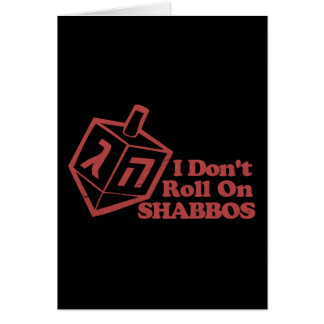 Draddle Roll Shabbos Card