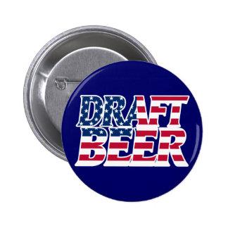 Draft Beer Pinback Button