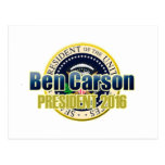 Draft Benjamin Carson for President Post Card