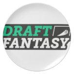 Draft Fantasy Gear Dinner Plate