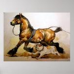 Draft Horse And Bulldog Poster Print