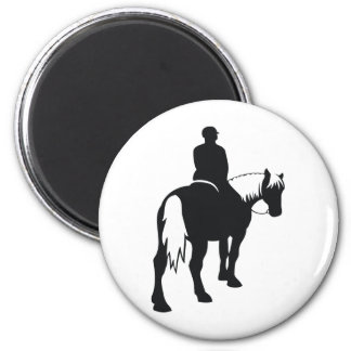 Draft Horse and Rider Magnet