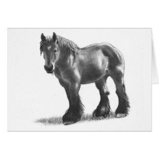 Draft Horse: Belgian: Realism Pencil Art Card