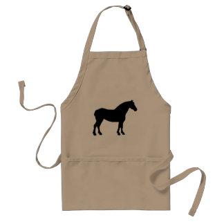 Draft Horse (black) Adult Apron