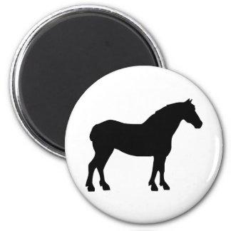 Draft Horse (black) Refrigerator Magnet