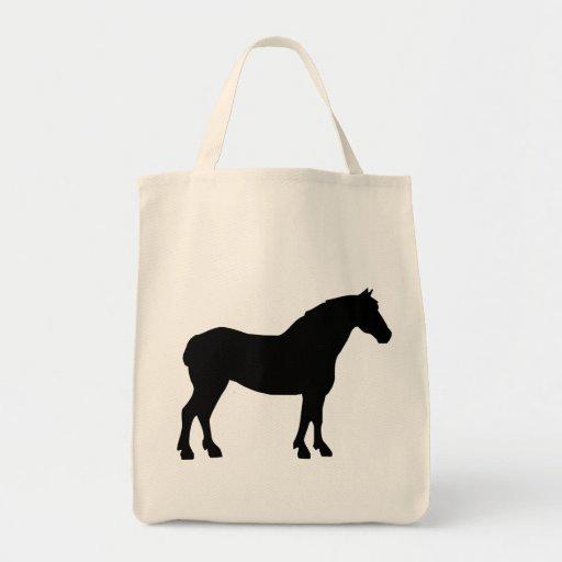 Draft Horse (black) Tote Bags