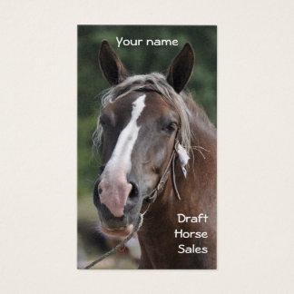 Draft horse business card