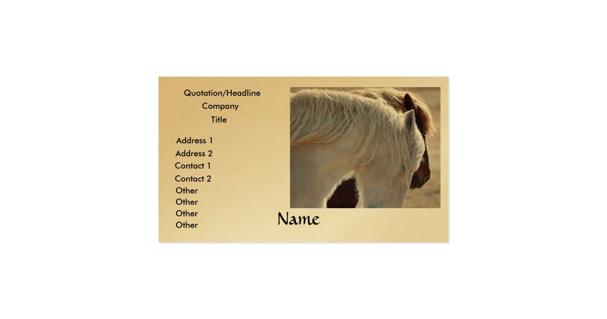 Draft horse business cards zazzle for Horse business cards