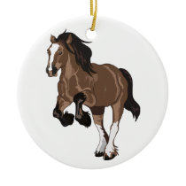 Draft Horse Ceramic Ornament
