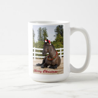 Draft Horse Christmas Mug