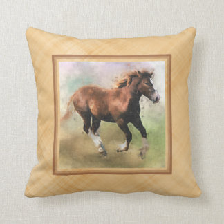 Draft horse foal cushion