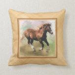 Draft horse foal cushion pillows