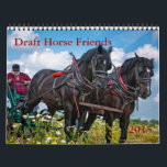 """Draft Horse Friends calendar<br><div class=""""desc"""">2015 calendar produced in cooperation with the facebook group Draft Horse Friends,  showcasing the versatility and beauty of heavy horses around the world</div>"""