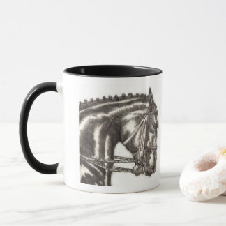 Draft Horse Hand Sketched Charcoal Life Drawing Mug