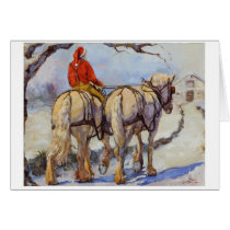 Draft horse holiday card