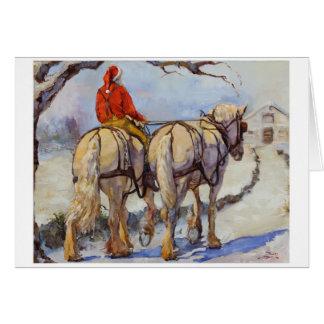 Draft horse holiday card