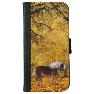 Draft horse in autumn iPhone 6/6s wallet case