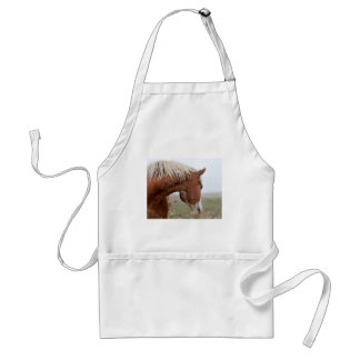 Draft Horse in the Mist - Stunning Western Adult Apron