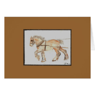 Draft horse note cards
