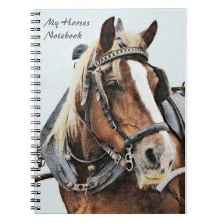 Draft horse notebook notebook