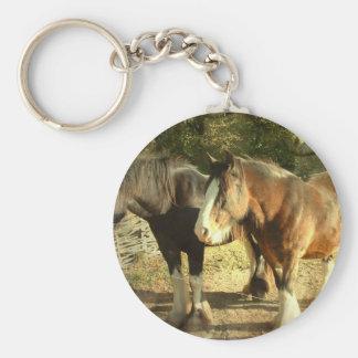 Draft Horse Pair Keychain