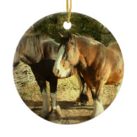 Draft Horse Pair Ornament