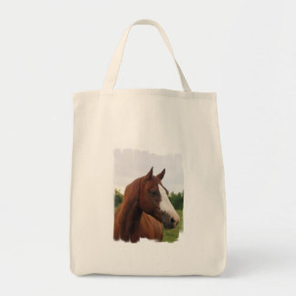 Draft Horse Photo Grocerty Tote Bag