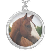 Draft Horse Photo Necklace