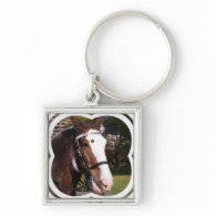 Draft Horse Rescue Keychain