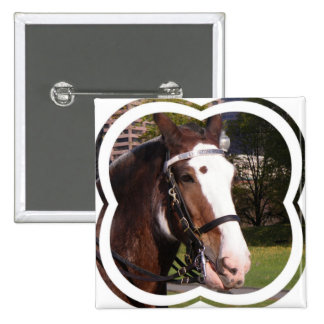 Draft Horse Rescue Square Pin