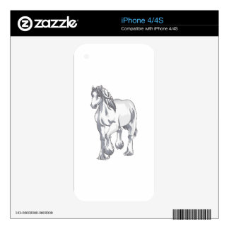 DRAFT HORSE DECALS FOR THE iPhone 4