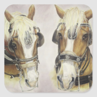 Draft Horse Stickers