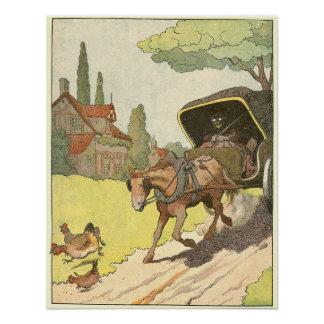 Draft Horse Storybook Illustration Poster