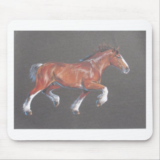 Draft  Horse Trotting Mouse Pad