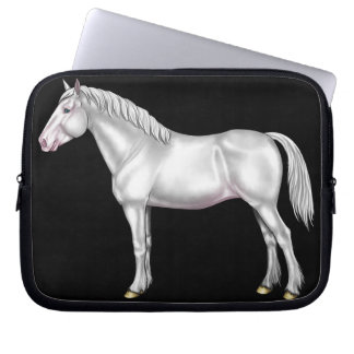 Draft Horse - White Laptop Sleeve