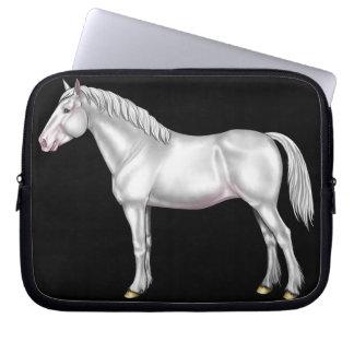 Draft Horse - White Laptop Computer Sleeve