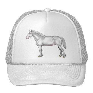 Draft Horse - White Trucker Hat